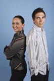 Glückliche junge Geschäftsleute Stockbilder