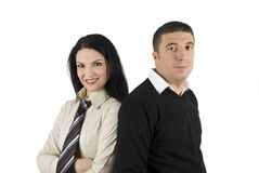 Glückliche junge Geschäftspaare Lizenzfreie Stockfotos