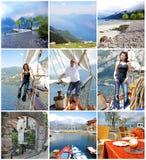 Glückliche junge Leute, die auf Ferien genießen und sich entspannen Lizenzfreies Stockfoto