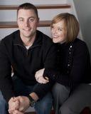 Glückliche junge Paare Stockbild