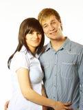 Glückliche junge Paare in der Liebe Lizenzfreie Stockbilder
