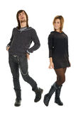Glückliche junge täuschende und flirtende Paare Lizenzfreies Stockfoto