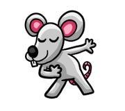 Glückliche königliche Maus lizenzfreie abbildung