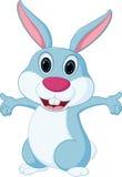 Glückliche Kaninchenkarikatur Lizenzfreie Stockfotos