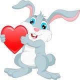 Glückliche Kaninchenkarikatur Lizenzfreies Stockfoto