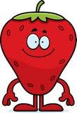 Glückliche Karikatur-Erdbeere Lizenzfreies Stockfoto