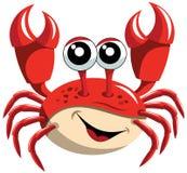 Glückliche Karikatur-Krabbe Lizenzfreies Stockfoto