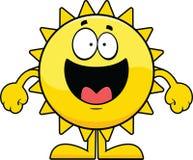 Glückliche Karikatur Sun Stockbild