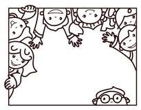 Glückliche Karikaturen des Vektors Kinder Stockfotos