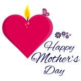 Glückliche Karte des Mutter Tages Stockfoto