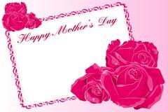 Glückliche Karte des Mutter Tages Stockbild