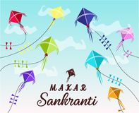 Glückliche Karte Makar Sankranti Stockbilder