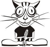 Glückliche Katze u. Fische Lizenzfreies Stockbild