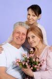 Glückliche kaukasische ältere Frau lizenzfreie stockbilder