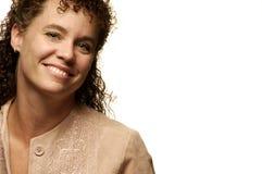 Glückliche kaukasische Frau Lizenzfreies Stockfoto