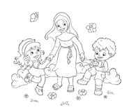 Glückliche Kinder - BW Lizenzfreie Stockfotografie