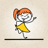 Glückliche Kinder der Handzeichnungskarikatur-Zusammenfassung Lizenzfreie Stockfotos