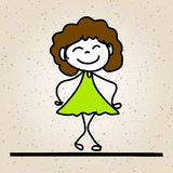 Glückliche Kinder der Handzeichnungskarikatur-Zusammenfassung Lizenzfreie Stockbilder