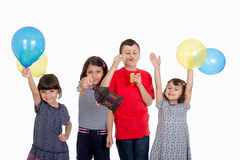 Glückliche Kinder, die Eid El Fitr feiern Lizenzfreies Stockfoto