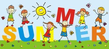 Glückliche Kinder, Feiertag Stockbild
