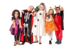 Glückliche Kinder in Halloween Lizenzfreies Stockfoto