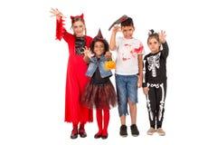 Glückliche Kinder in Halloween Stockfoto