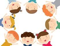 Glückliche Kinder lokalisiert Stockfoto