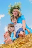 Glückliche Kindheit und parenting Stockfoto