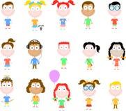 Glückliche Kindserie Lizenzfreie Stockbilder