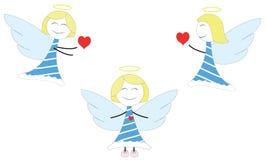 Glückliche kleine Engel Stockfotos