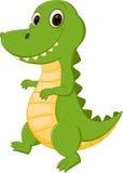 Glückliche Krokodilkarikatur Lizenzfreie Stockfotos