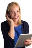 Glückliche Kundendienst-Dame Lizenzfreie Stockbilder