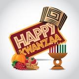 Glückliche Kwanzaa-Ikone vektor abbildung