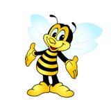 Glückliche lächelnde Biene Lizenzfreies Stockfoto