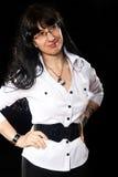Glückliche lächelnde Dame Lizenzfreie Stockfotos