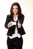 Glückliche lächelnde Geschäftsfrau Lizenzfreies Stockbild