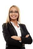 Glückliche lächelnde Geschäftsfrau Stockbild