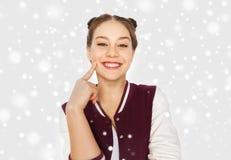 Glückliche lächelnde hübsche Jugendliche Lizenzfreie Stockfotografie
