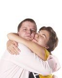 Glückliche lächelnde Jugend und Mädchen. stockfoto