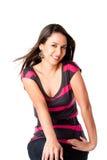 Glückliche lächelnde junge Frau Lizenzfreie Stockfotografie