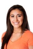 Glückliche lächelnde junge Frau des Jugendlichen Lizenzfreie Stockfotografie