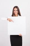 Glückliche lächelnde junge Geschäftsfrau Stockfotografie