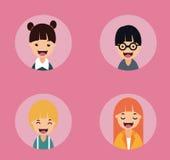 Glückliche lächelnde Leutesammlung stock abbildung