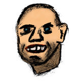 Glückliche lächelnde Mann-Abbildung Stockbild