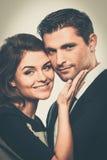 Glückliche lächelnde Paare Lizenzfreies Stockfoto