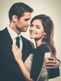Glückliche lächelnde Paare Stockbilder