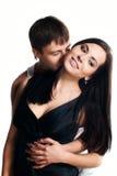 Glückliche lächelnde Paare in der Liebe. Stockfotografie