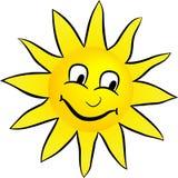 Glückliche lächelnde Sonne Lizenzfreie Stockfotos