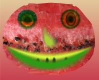 Glückliche lächelnde Wassermelone lizenzfreie abbildung