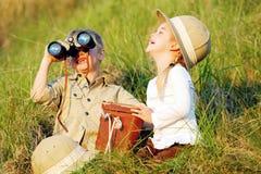Glückliche lachende Kinder stockfotografie
